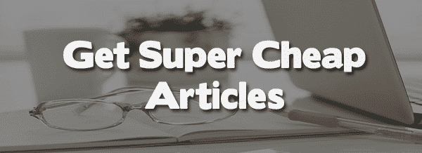 Cheap articles