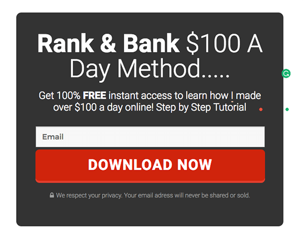Find Out How This Landing Page Template Gets Me 71% Optin Rates